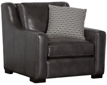 Germaine Dark Gray Leather Chair