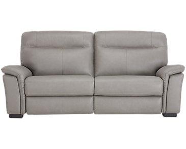 Mason Gray Leather & Vinyl Sofa