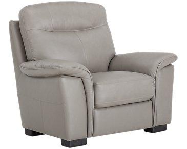 Mason Gray Leather & Vinyl Chair