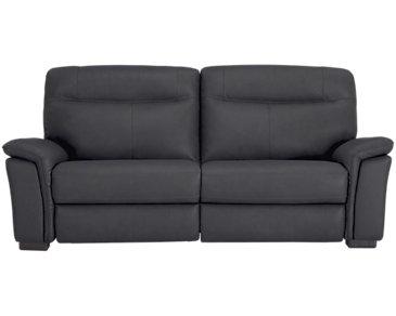Mason Dark Blue Leather & Vinyl Sofa