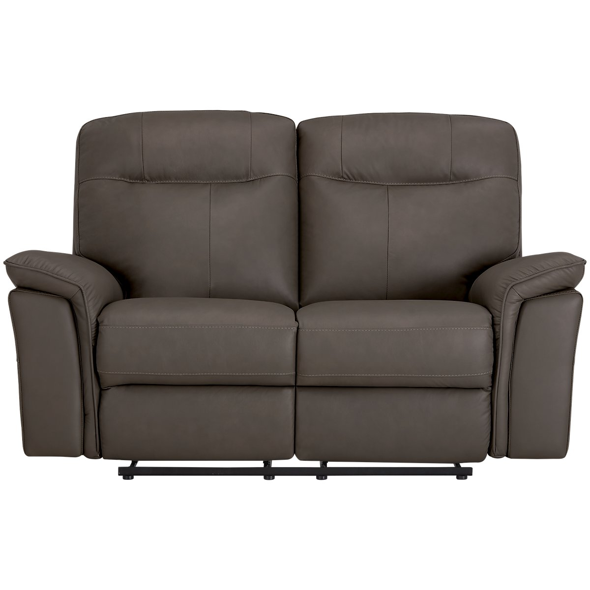 Mason Dark Brown Leather & Vinyl Reclining Loveseat