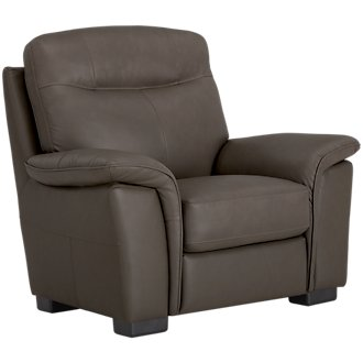 Mason Dark Brown Leather & Vinyl Chair