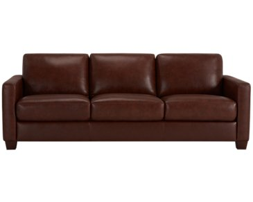 Wesley Medium Brown Leather Sofa