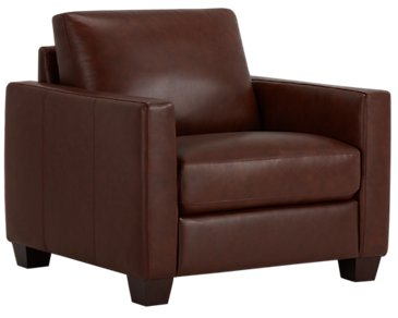 Wesley Medium Brown Leather Chair
