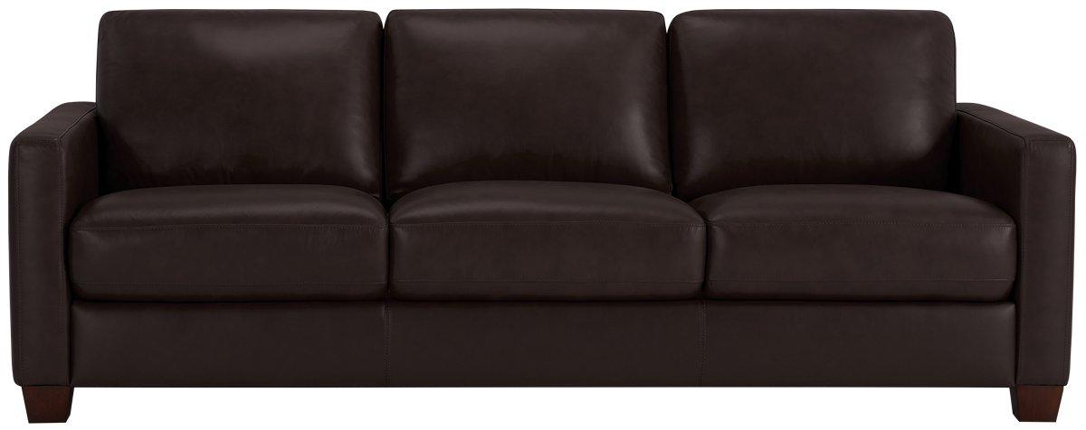 Wesley Dark Brown Leather Sofa