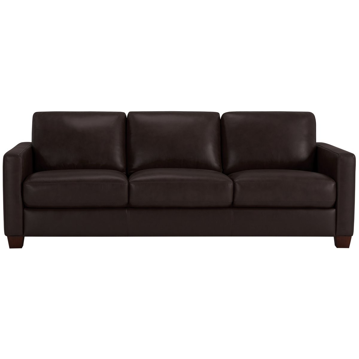 City Furniture Wesley Dark Brown Leather Sofa