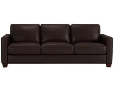 Wesley Dark Brown Leather Sofa
