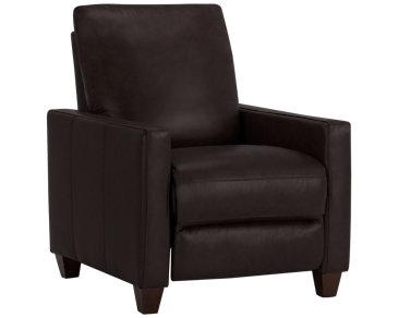 Wesley Dark Brown Leather Recliner