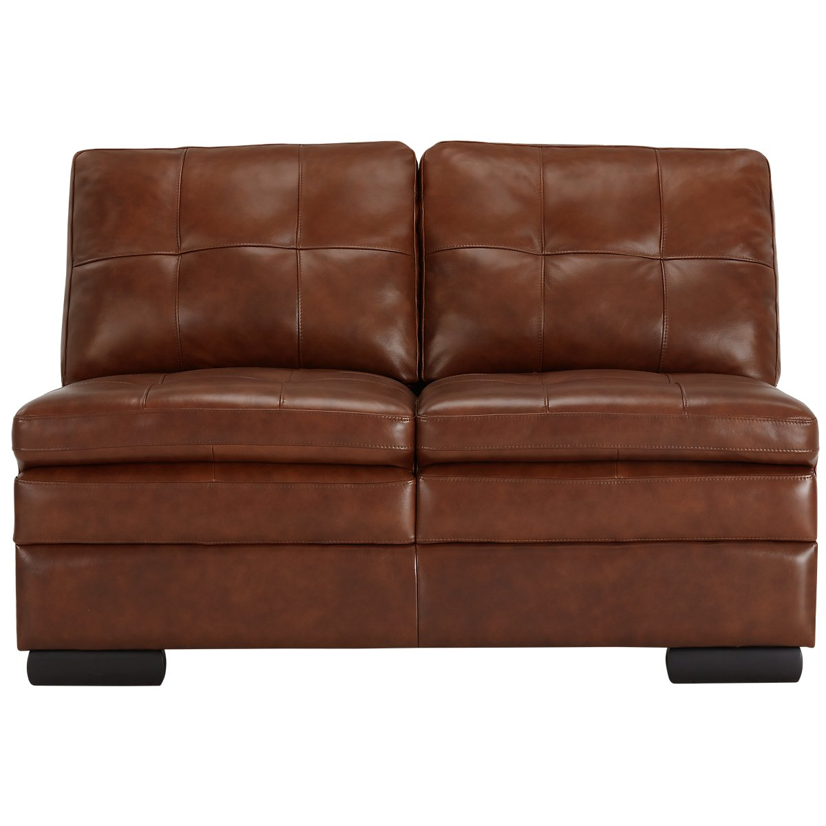 City furniture trevor medium brown leather small right for Brown leather sectional with chaise
