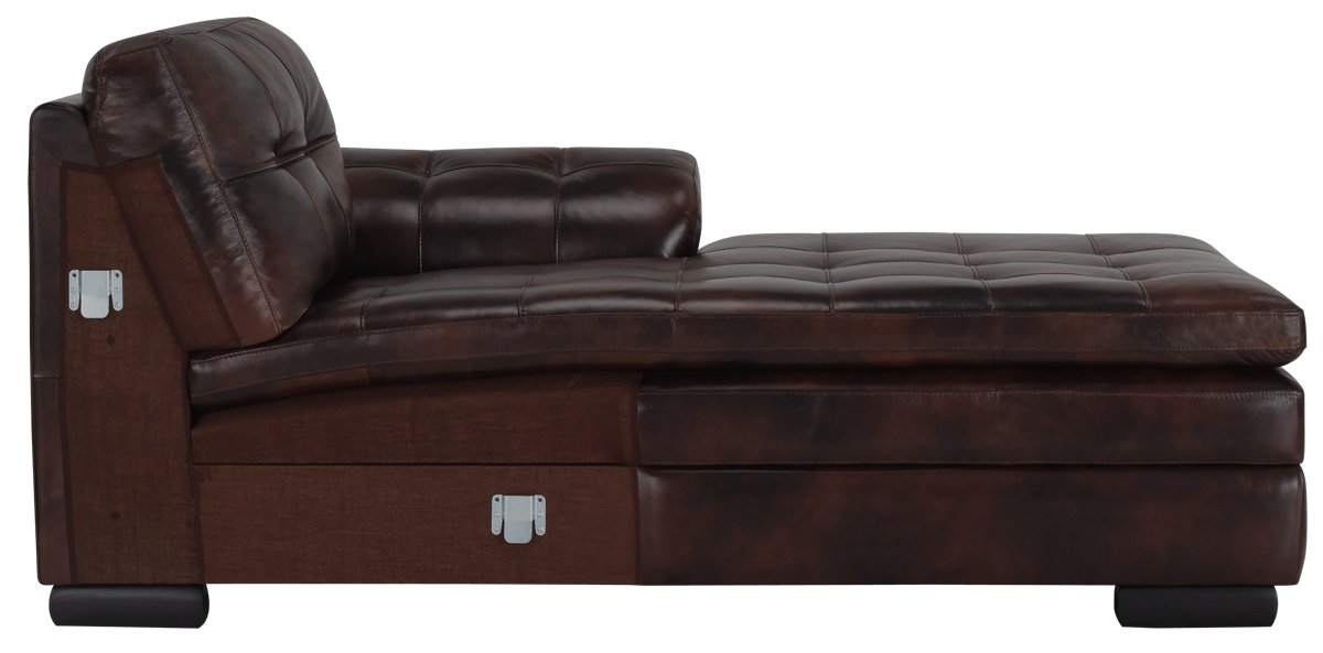 City Furniture Trevor Dark Brown Leather Small Right Chaise Sectional
