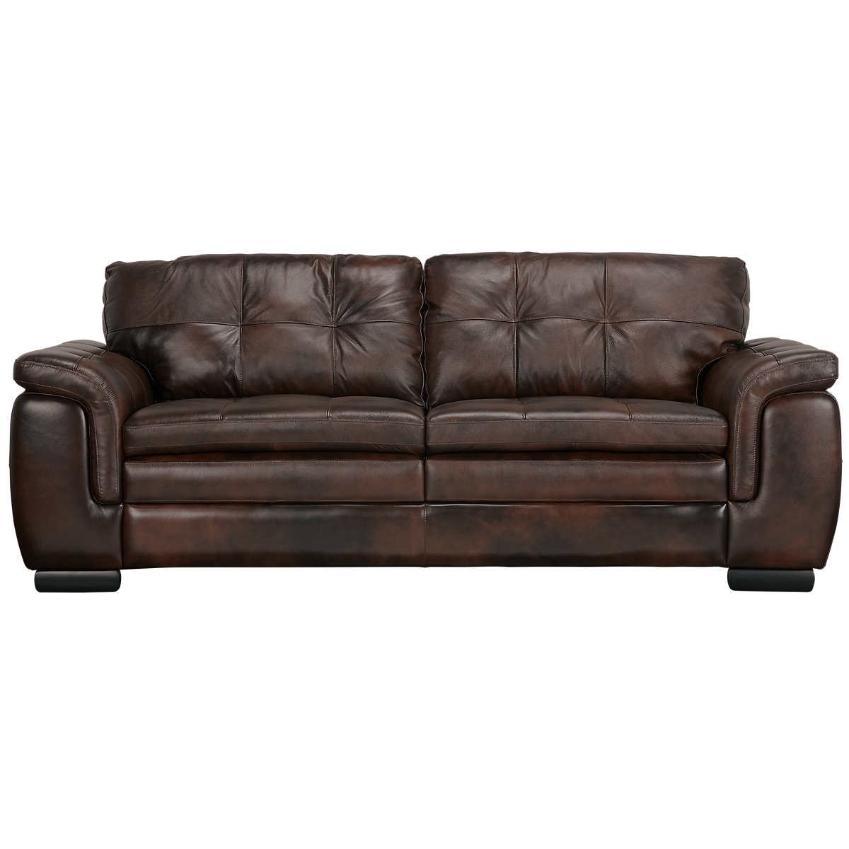 Trevor Dark Brown Leather Sofa