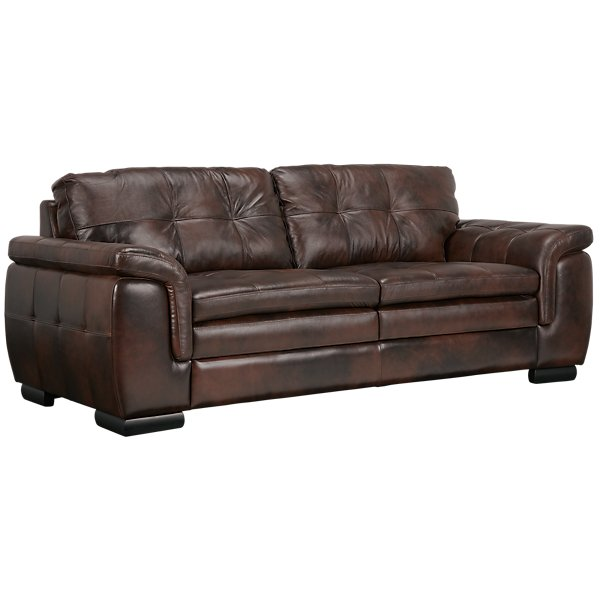 Trevor Dark Brown Leather Sofa