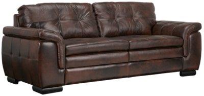 Trevor Dark Brown Leather Sofa. VIEW LARGER