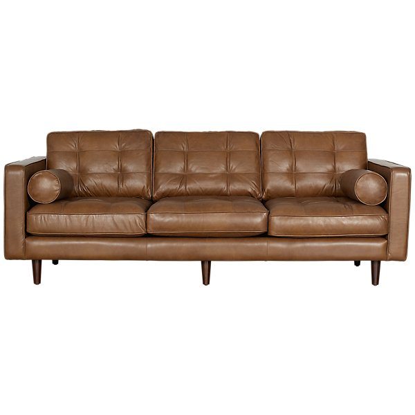 Image Of Encino Medium Brown Leather Sofa With Sku 2710200