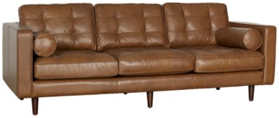 Superieur Encino Medium Brown Leather Sofa. VIEW LARGER