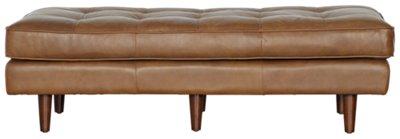 Genial Encino Medium Brown Leather Ottoman Encino Medium Brown Leather Ottoman