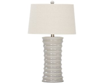 Cara Light Gray Table Lamp