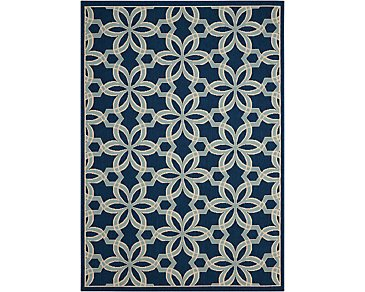 Caribbean Blue Indoor/Outdoor 5x7 Area Rug