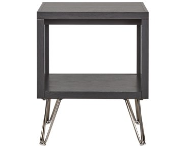 Studio Black Square End Table
