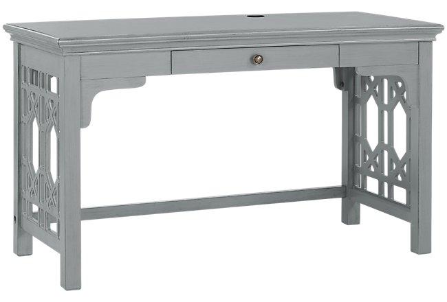 Joplin Gray Wood Desk