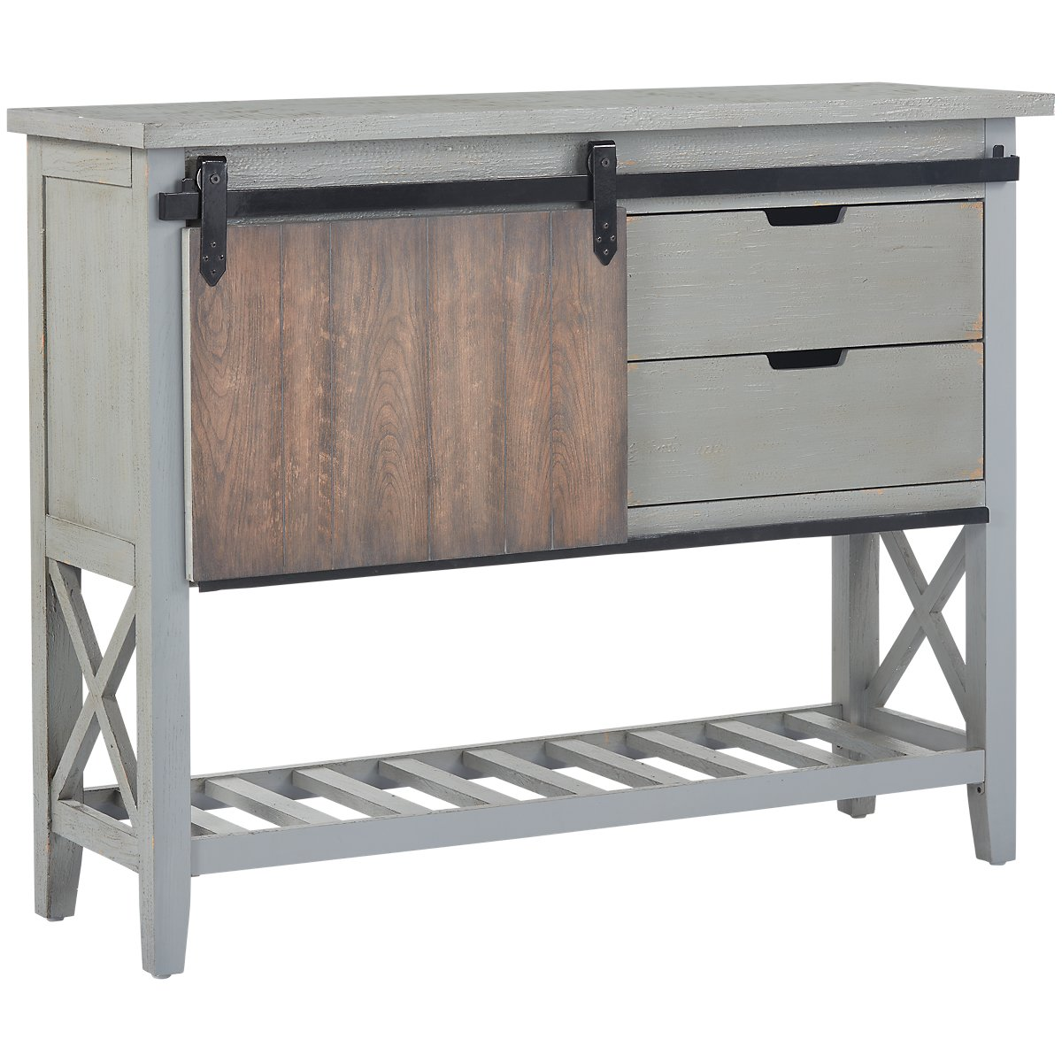 Vinton Gray Wood Console Table View Larger