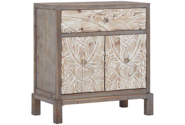 Honor Mid Tone Wood Cabinet