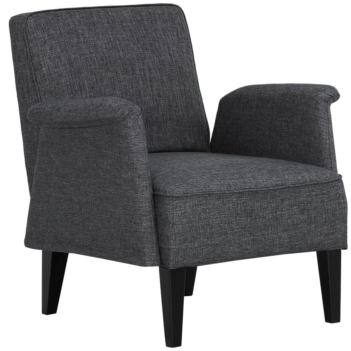 city furniture  home accents  decor  chairs  chaises - nigel dark gray accent chair