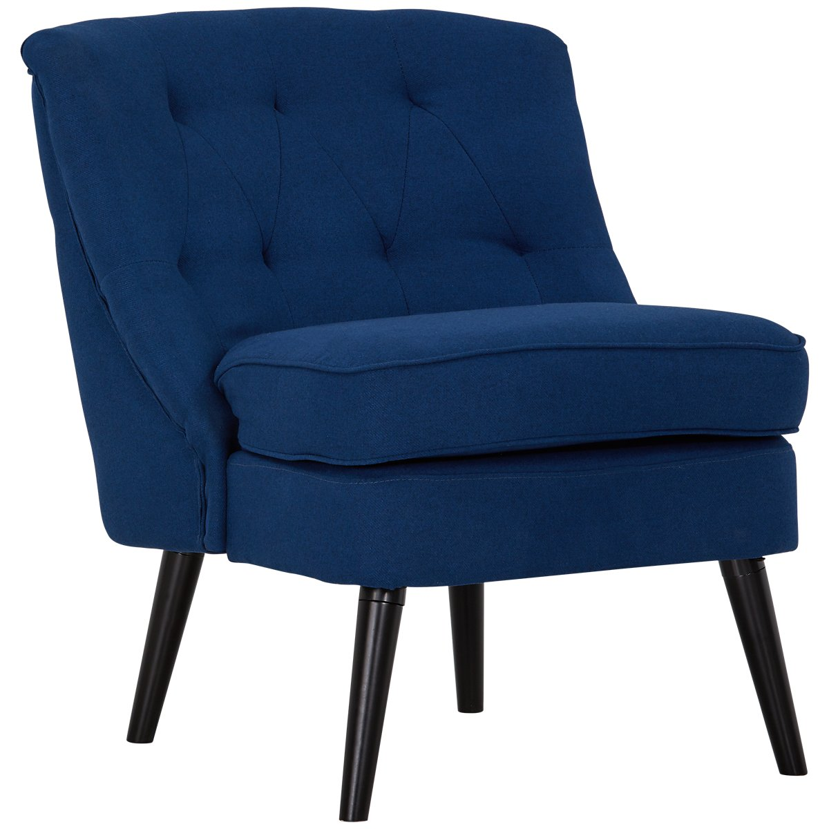 Darcy Dark Blue Fabric Accent Chair