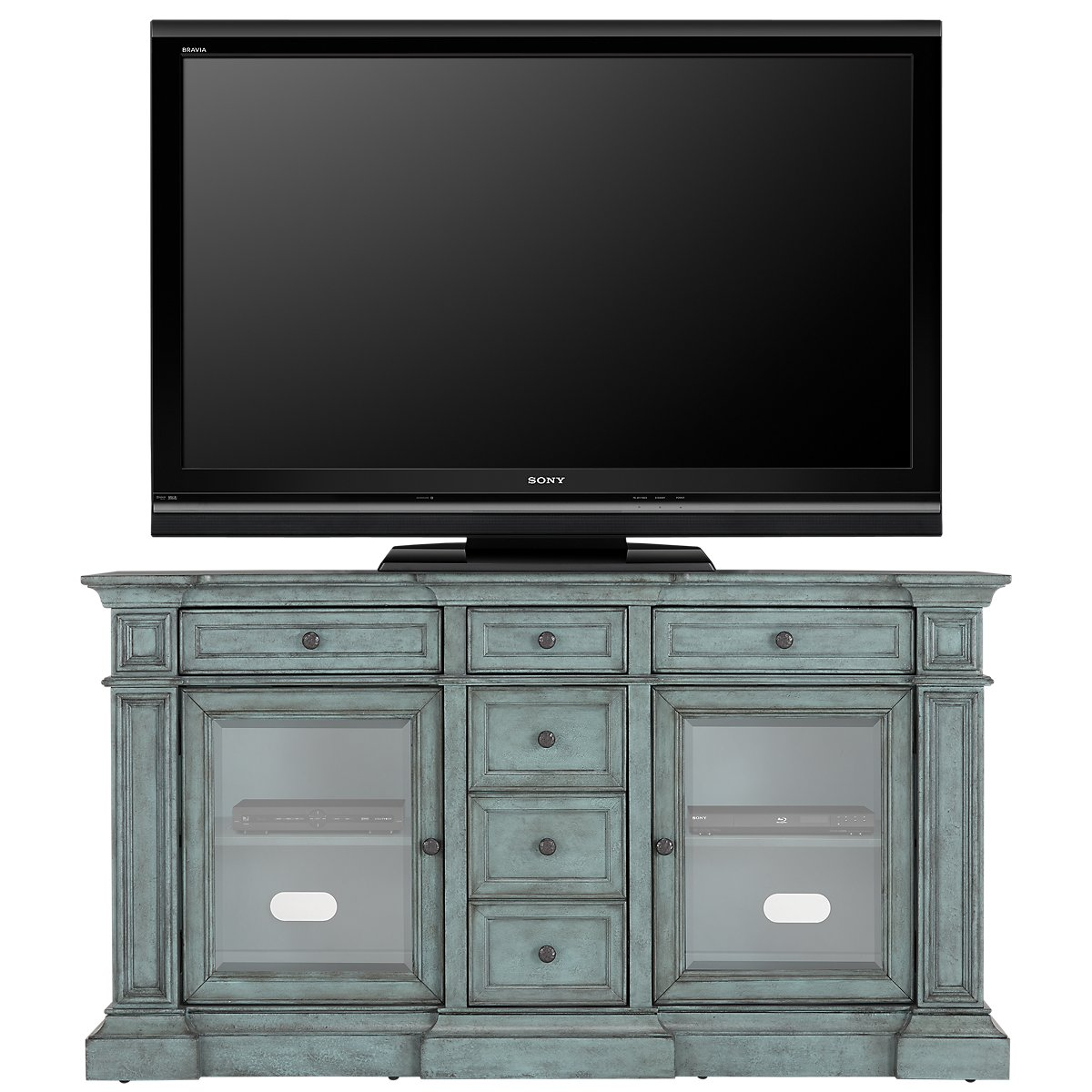 "Rome 66"" Teal TV Stand"