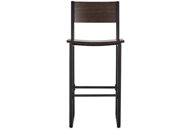 Blaine Dark Tone Wood Desk And Chair