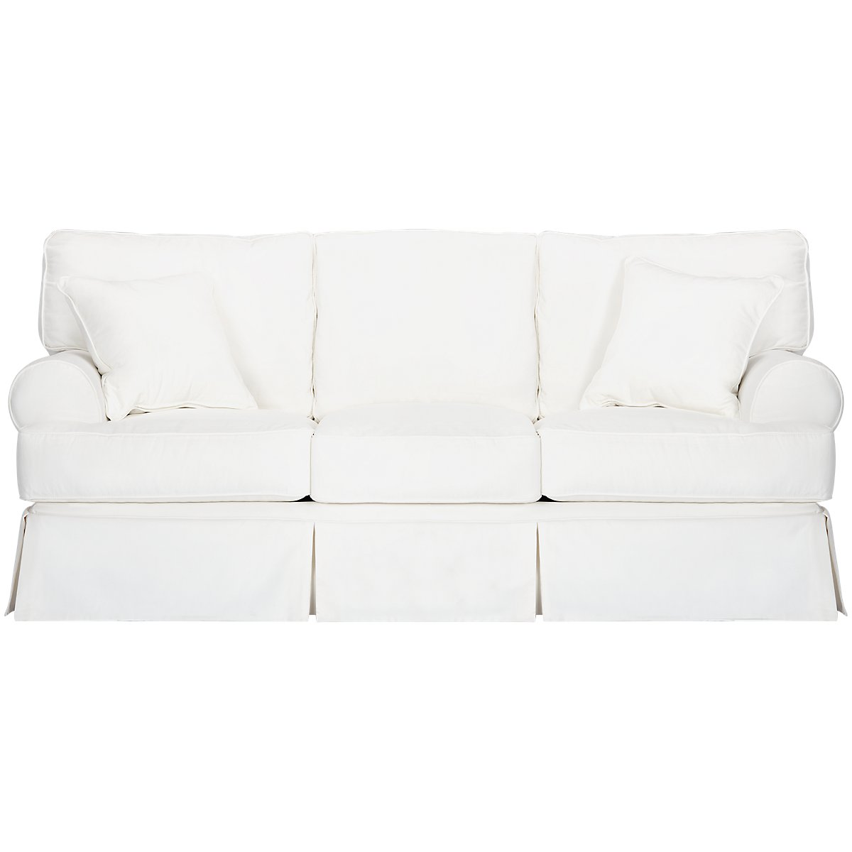 City Furniture Harris White Fabric Sofa