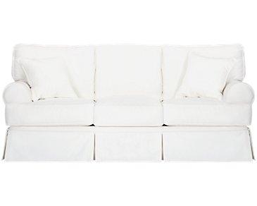 Harris White Fabric Sofa