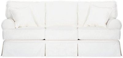 Elegant Harris White Fabric Sofa