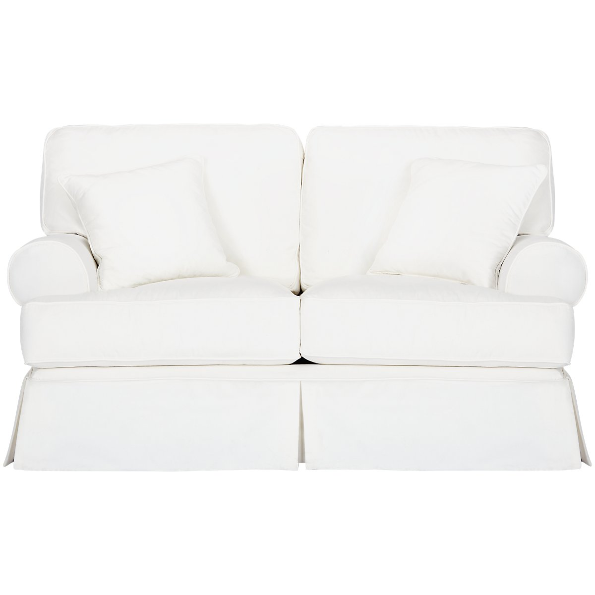 city furniture harris white fabric loveseat - harris white fabric loveseat