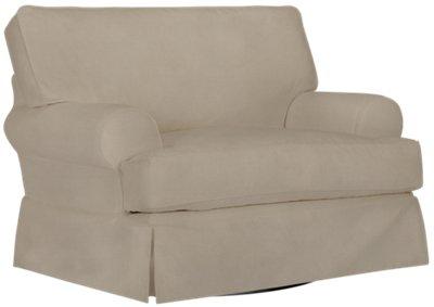 Harris Khaki Fabric Swivel Chair