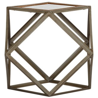 Multus Brown Metal Accent Table