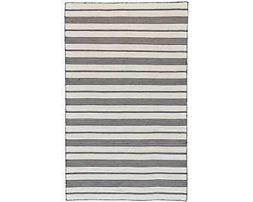 Duprine Black Indoor/Outdoor 5x8 Area Rug