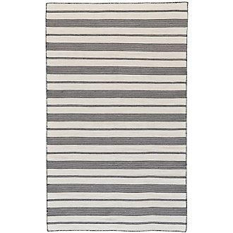 Duprine Black Indoor/Outdoor 8x11 Area Rug