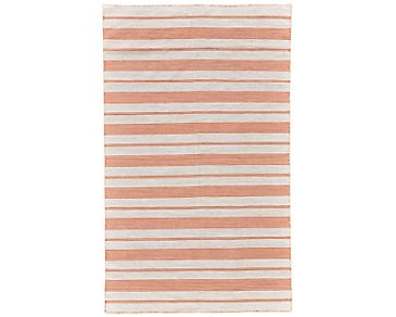 Duprine Orange Indoor/Outdoor 5x8 Area Rug