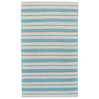 Duprine Teal Indoor/Outdoor 5x8 Area Rug