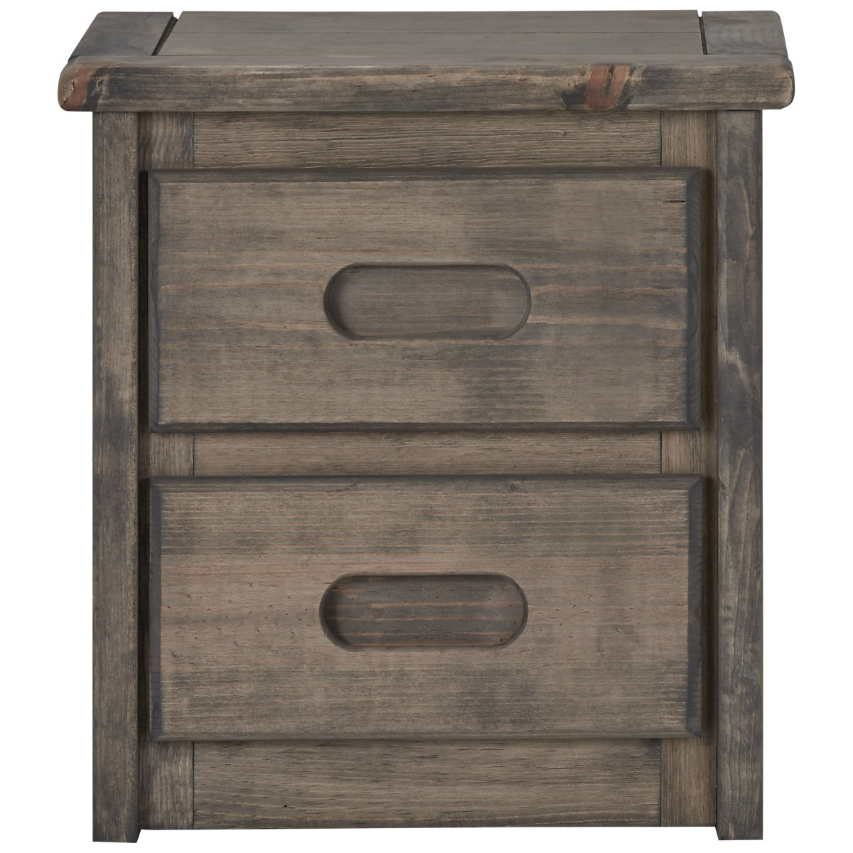 Cinnamon Gray Wood Nightstand