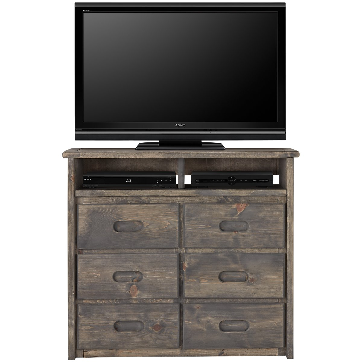 Cinnamon Gray Large Media Chest