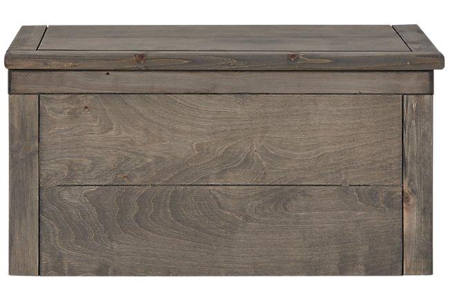 Cinnamon Gray Wood Toy Chest