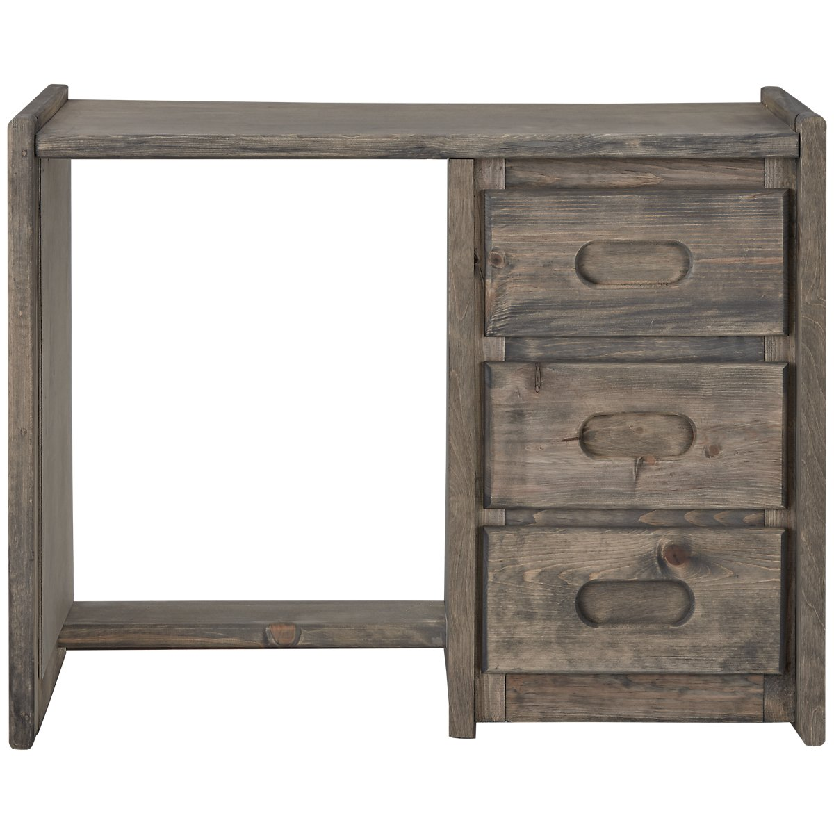 Cinnamon Gray Wood Writing Desk