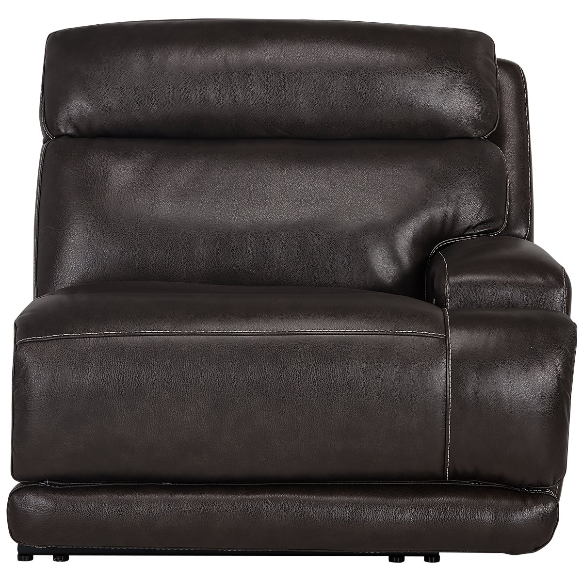 city furniture gable dark brown leather left chaise power reclining sectional. Black Bedroom Furniture Sets. Home Design Ideas