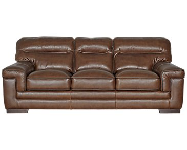 Alexander Medium Brown Leather Sofa