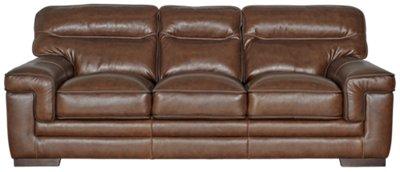 Alexander Medium Brown Leather Sofa ...