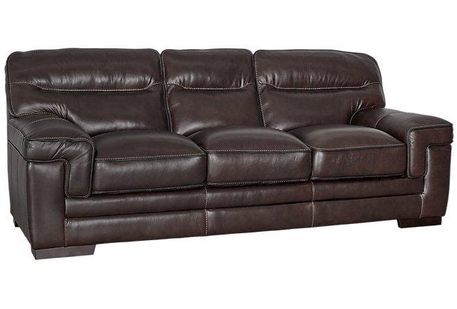 Alexander Dark Brown Leather Sofa
