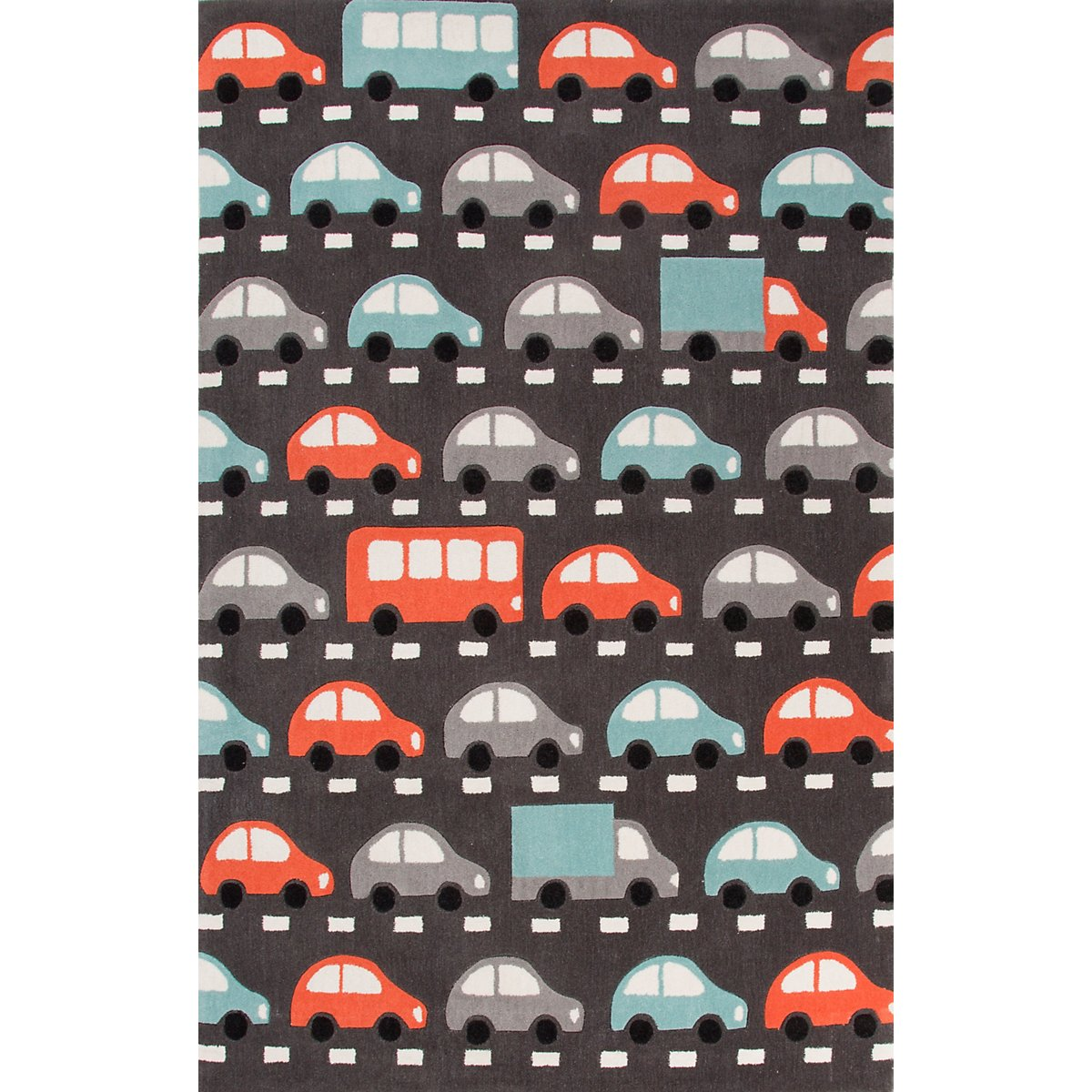 Traffic Multicolored Poly 3x5 Area Rug