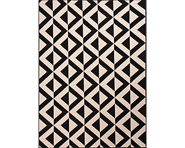 Patio Black Indoor/Outdoor 5x8 Area Rug